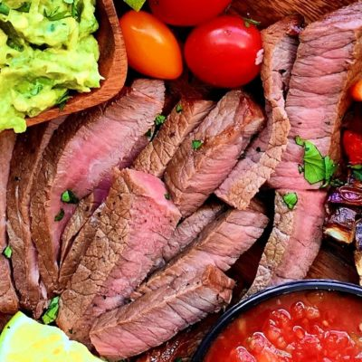 Air Fryer Steak Fajitas