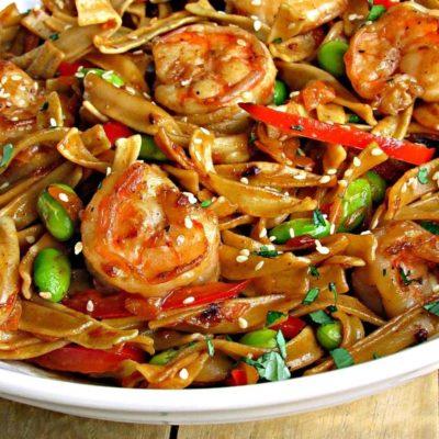 Asian Pan Fried Noodles with Shrimp