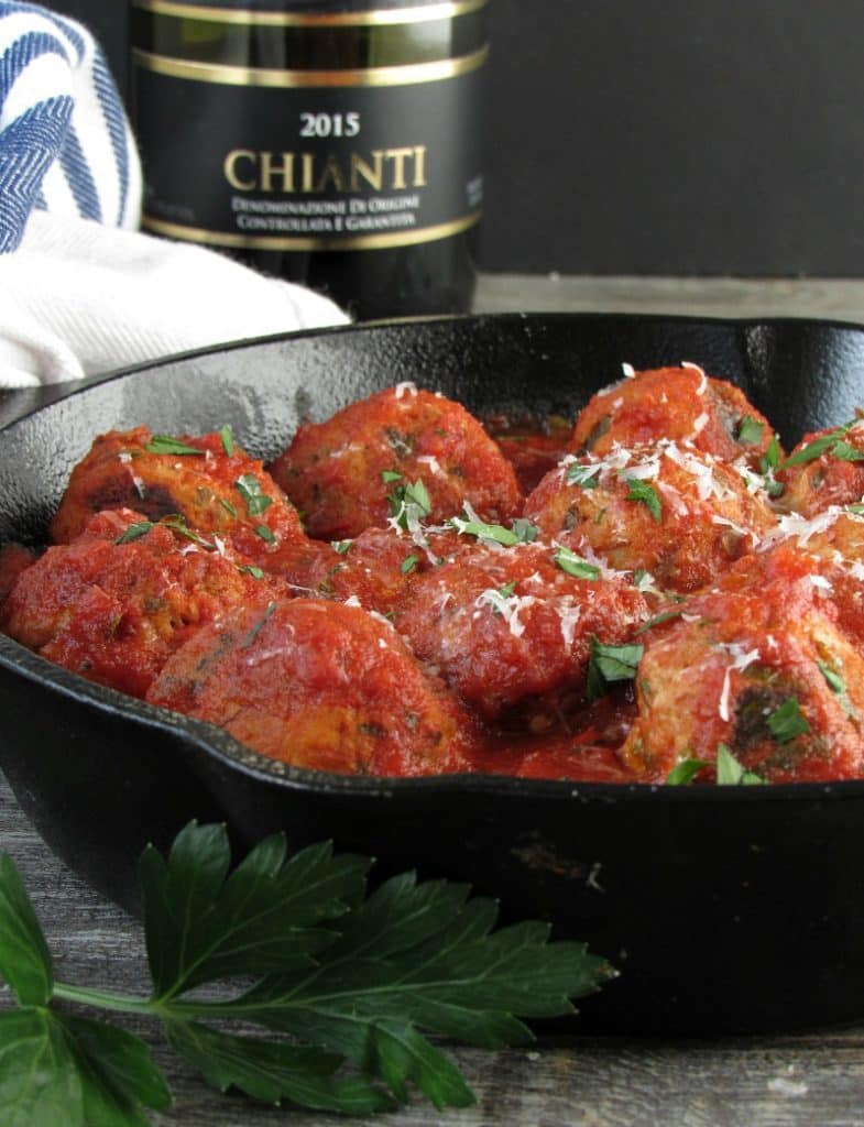 Turkey Meatballs and Marinara: Tender, juicy meatballs seared then simmered in robust marinara sauce. Healthy twist on a classic without sacrificing taste.