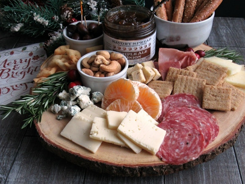 Cheese and Charcuterie Board ~ meats cheeses bread fruit and nuts. Easy & Cheese and Charcuterie Board + Entertaining Tips from A Gouda Life