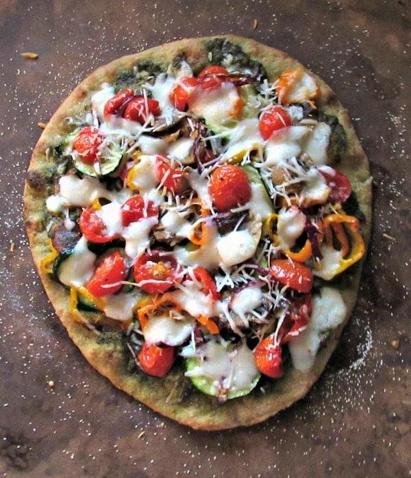 veggie flatbread pizza