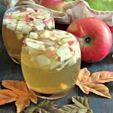 apple cider honey crisp sangria