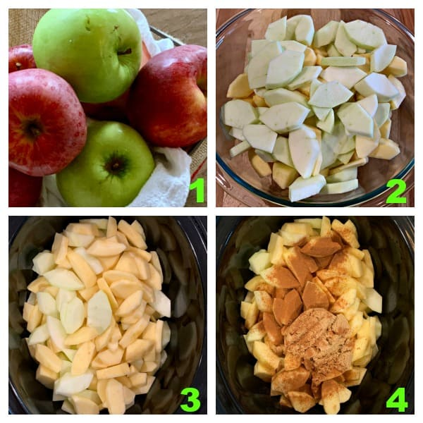 photo instructions how to make homemade applesauce in the crockpot