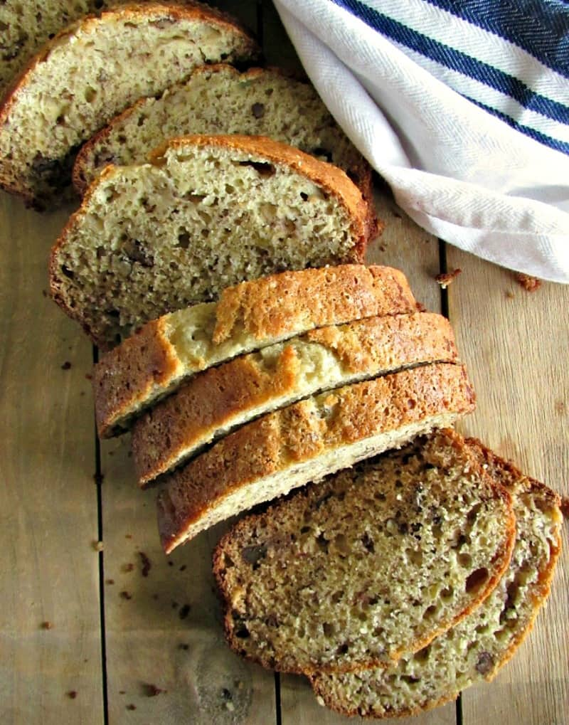 Best Banana Nut Bread ~ easy, moist, a little nutty and most of all tons of delicious banana flavor. Ideal for breakfast or brunch.