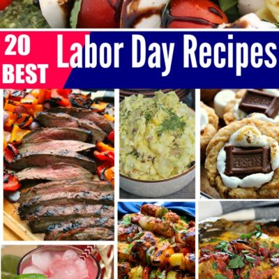 collage of BEST labor day menu