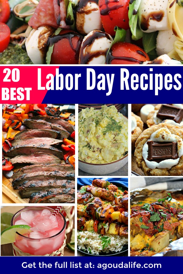 collage of the BEST labor day recipes