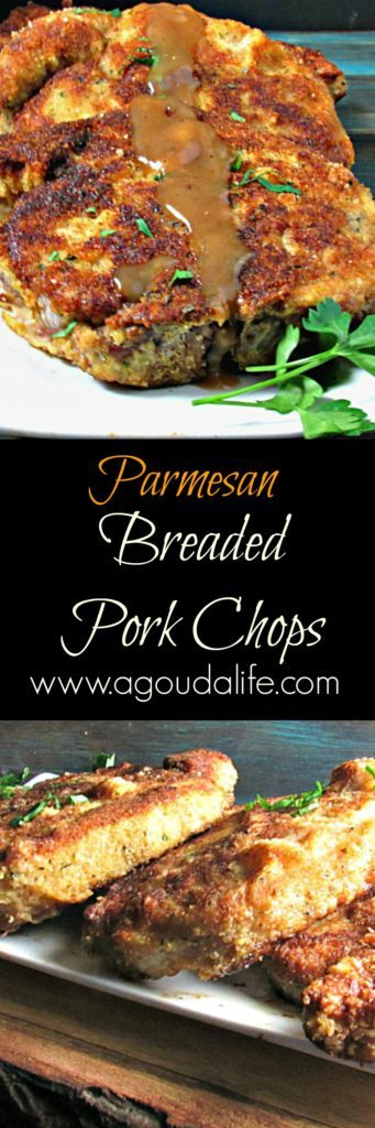 Parmesan Breaded Pork Chops: a classic comfort recipe. Juicy, tender pork with a crispy, parmesan breading. It's that meal they'll all want to come home to.