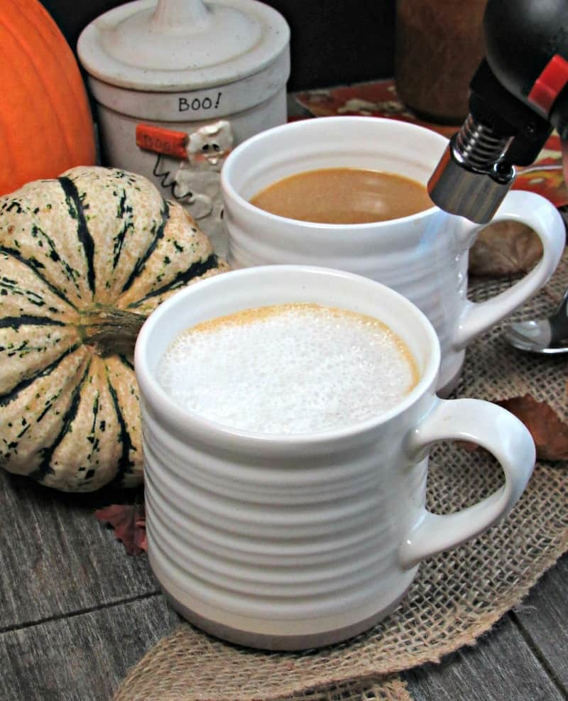 Creme Brulee Coffee ~ rich, creamy coffee and a crispy sugar brulee-type topping. The ideal cool weather beverage, perfect for holiday entertaining.