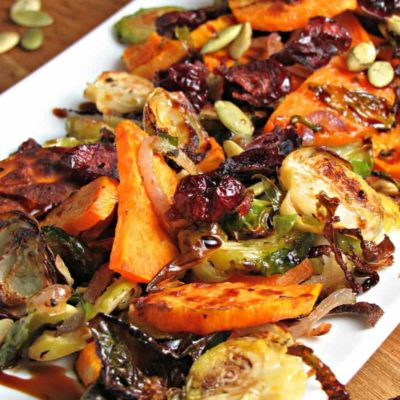 Brussels Sprouts Sweet Potato Medley