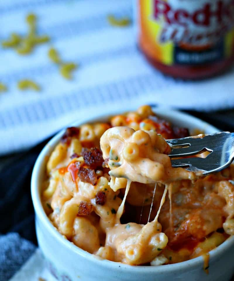 learn to make this classic tailgating dish spicy buffalo macaroni and cheese