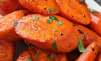 Brown Butter Honey Glazed Carrots ~ tender carrots roasted in a delicious nutty, brown butter honey-garlic sauce.