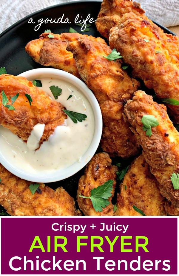 breaded crispy air fryer chicken tenders