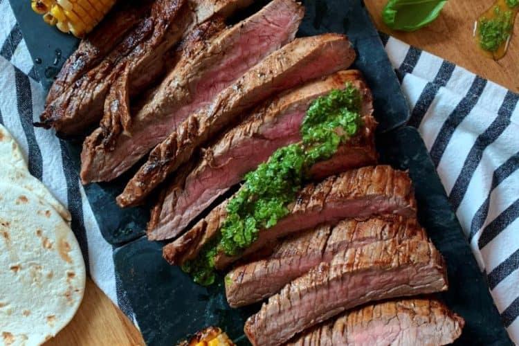 Basil Chimichurri Flank Steak
