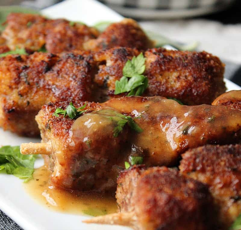 City Chicken Recipe Tender Cubed Pork Skewers A Gouda Life