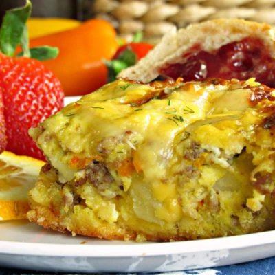 Overnight Breakfast Egg Sausage Casserole