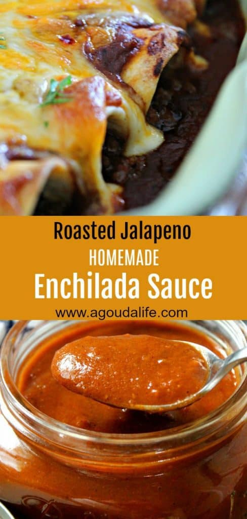 Homemade Enchilada Sauce ~ authentic Mexican flavor with just 10 minutes hands on time. Take your enchilada recipe to the next level.