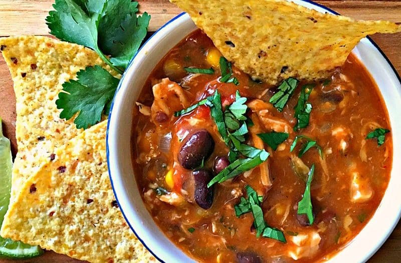 20 Minute Cheesy Chicken Enchilada Soup ~ cheesy, spicy ~ a complete meal in one bowl and goes from stove to table in just 20 minutes.