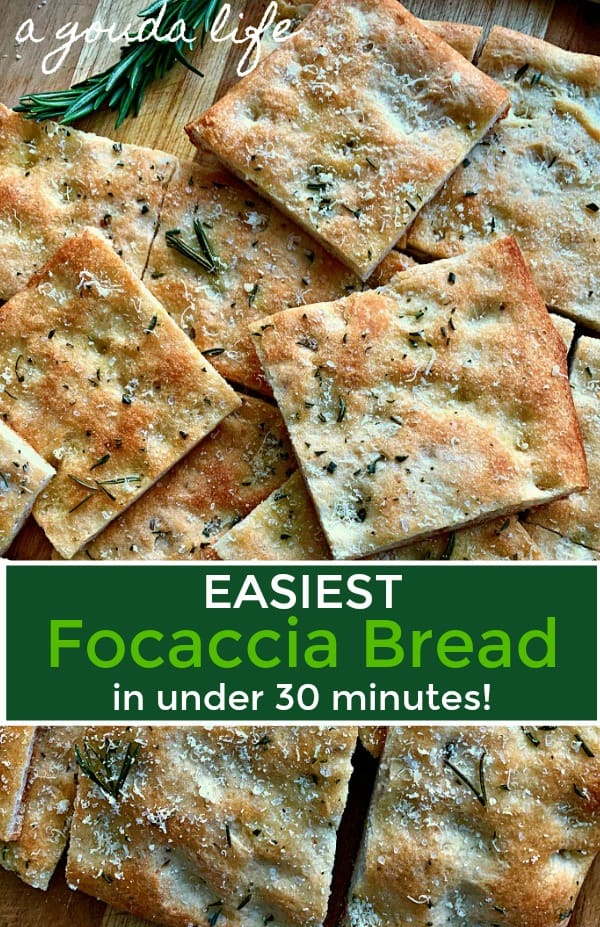 sliced focaccia bread topped with rosemary
