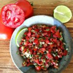 Fresh Tomato Salsa ~ fresh tomatoes, onions, cilantro and a hint of lime. Also called pico de gallo