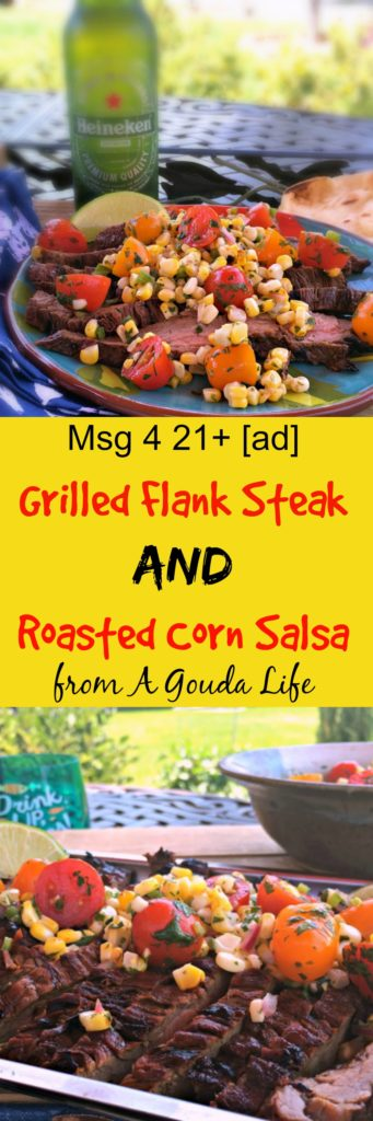 grilled flank steak and roasted corn salsa