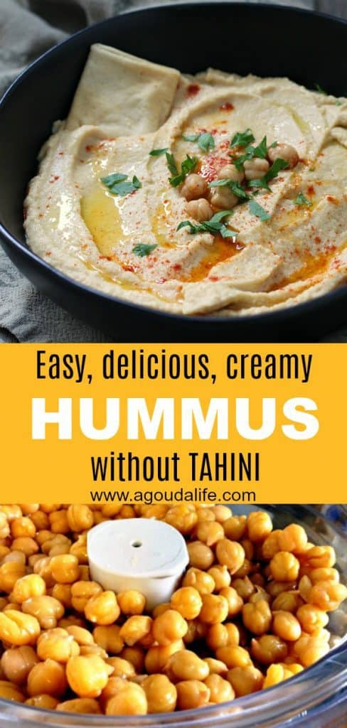 easy hummus recipe without tahini