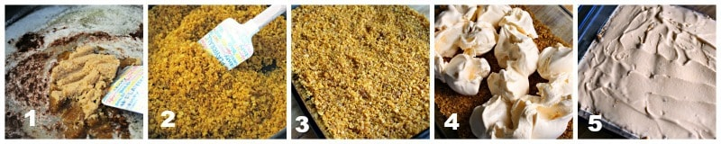 easy fried ice cake instructional photo grid