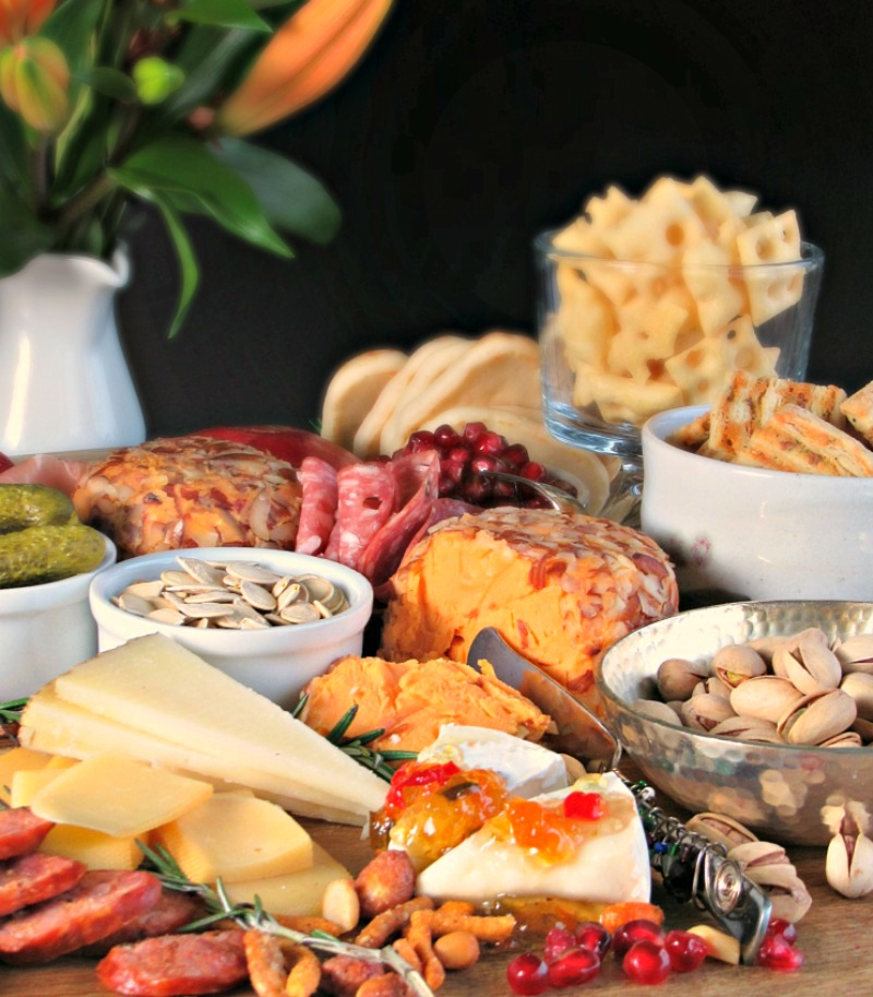 Ultimate Appetizer Board ~ something for all ~ simple, customizable, no cooking. Elevated with creative touches + tips for easy, no-stress entertaining.