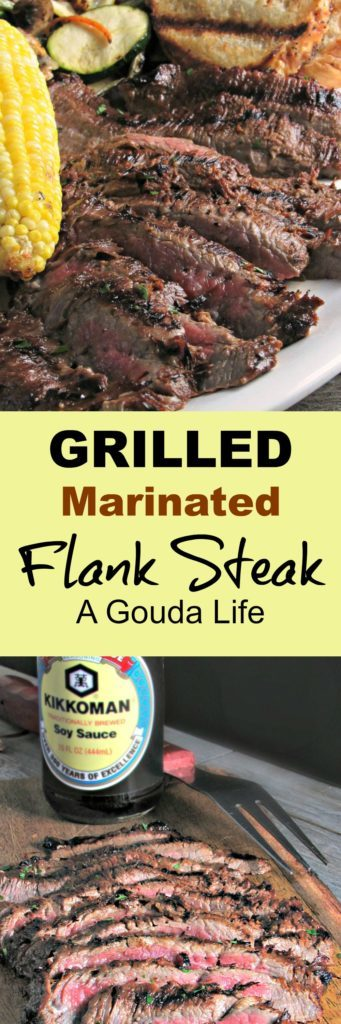Grilled Marinated Flank Steak: marinated steak grills in under 10 minutes for tender, juicy flavor + tips re: how to slice to guarantee tenderness!