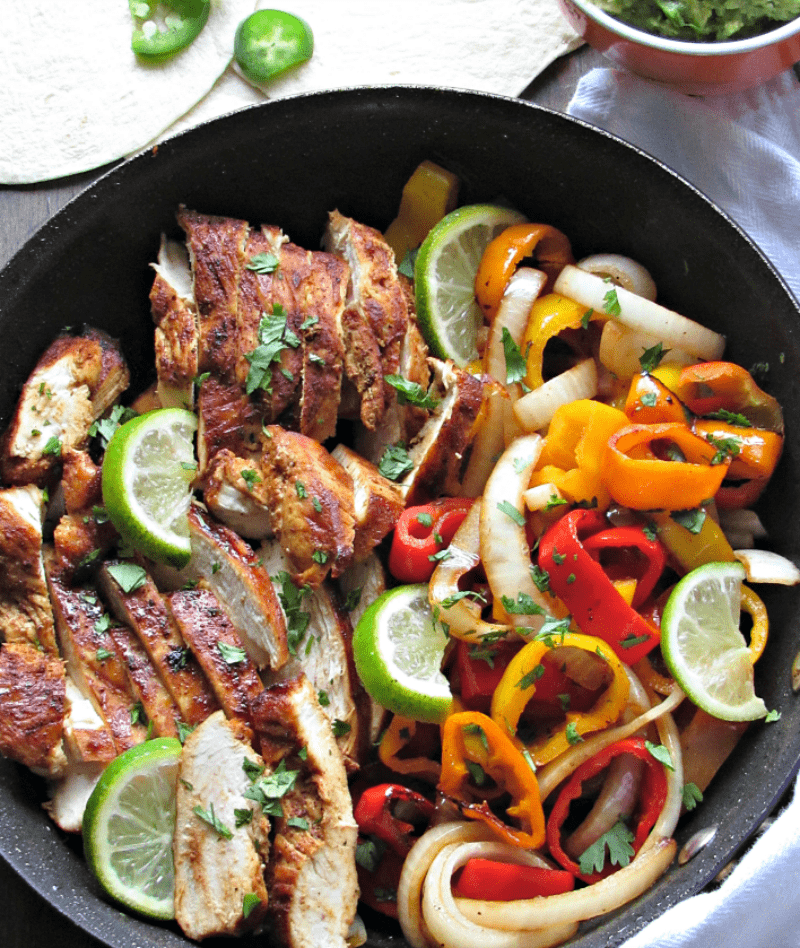 Margarita Chicken Fajitas: tequila-jalapeno-citrus marinade. Grill or sauté indoors with peppers and onions for flavor packed sizzling fajitas.