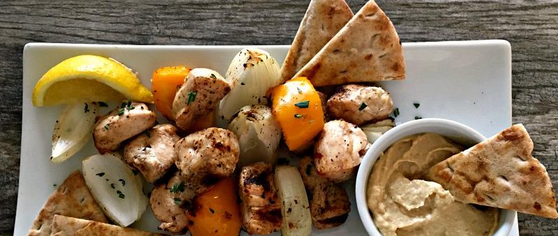 marinated rosemary chicken kabobs