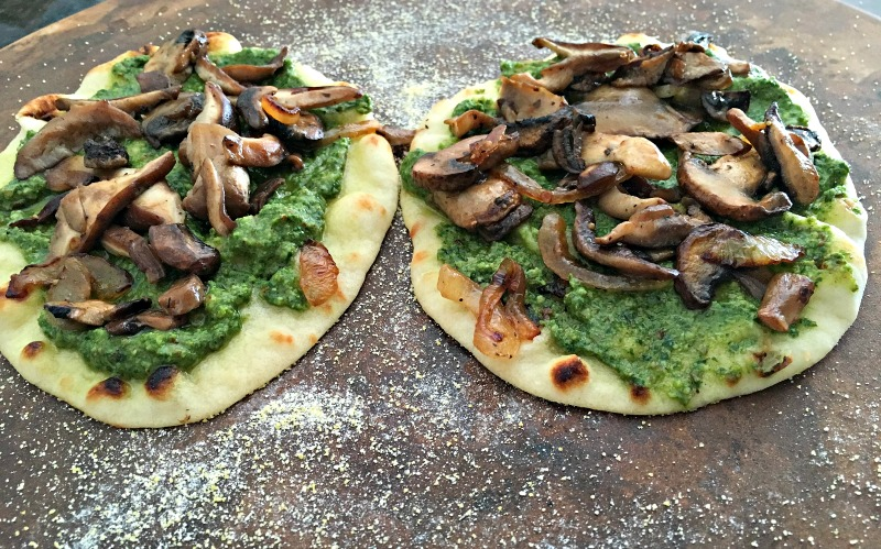 Wild mushroom pizza. Easy, delicious robust any night meal.