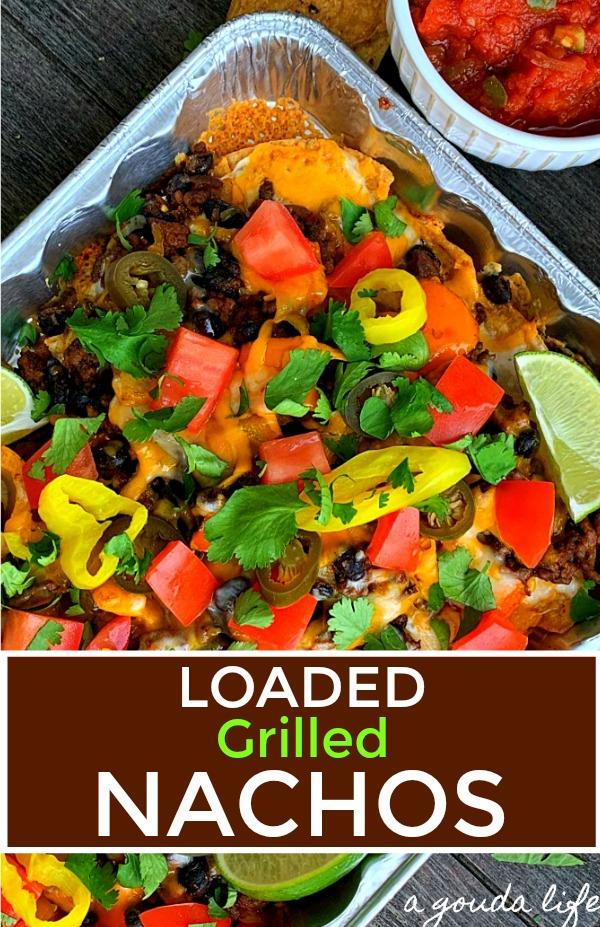 pinterest pin for grilled nachos