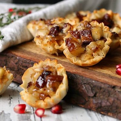 Pepper Jelly Apple Bacon Brie Bites
