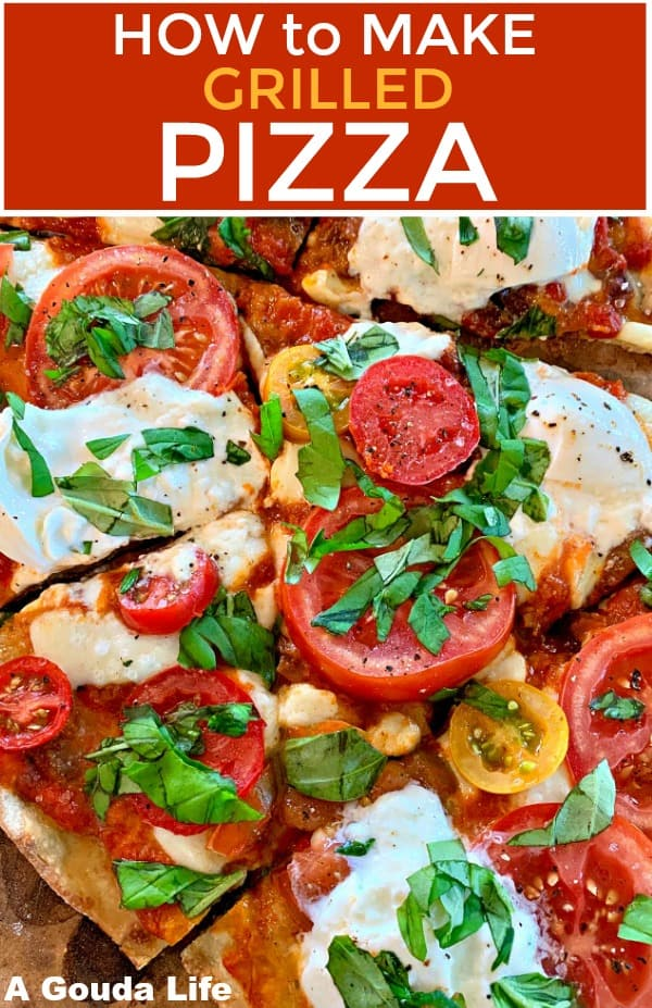 pinterest pin for how to grill pizza