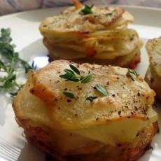 Smoked Gouda Stacked Potatoes