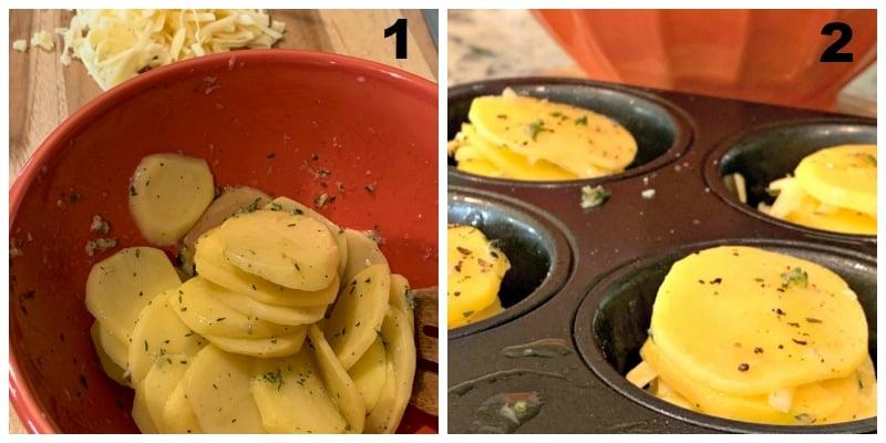 how to make smoked gouda muffin stack potatoes
