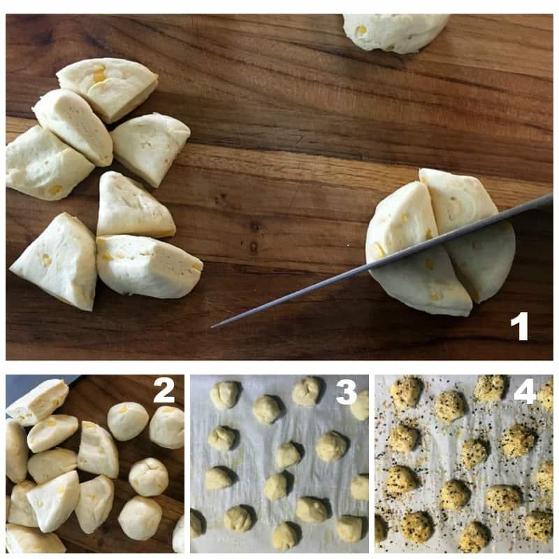 easy soft pretzel bites ~ step by step instruction collage