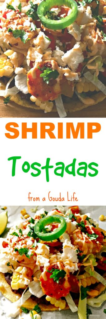Spicy Shrimp Tostadas ~ delicious and easily adaptable from 1 to 10 ~ or more ~ people! If you like seafood and Mexican cuisine, this is for you.