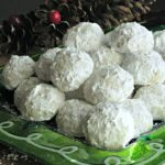 Christmas Snowball Cookies ~ nutty, buttery melt-in-your-mouth shortbread, dusted with confectioners sugar outside. Skill level: Easy