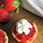 just 5 ingredients to delicious, simple, bite size pies loaded with fresh sweet strawberries in a flaky crust, topped with whipped cream