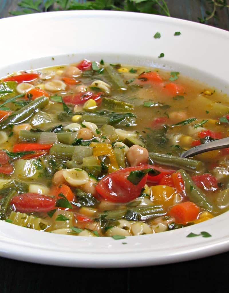 Summer Minestrone Soup ~ a bowl of summer flavor ~ A Gouda Life