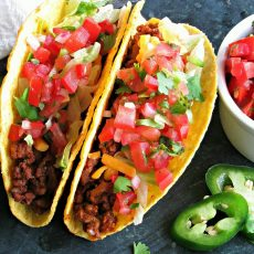 Ground Beef Tacos ~ bold, spicy Mexican flavored ground beef tacos with chipotle peppers. An easy recipe, perfect for tacos, enchiladas or nachos.