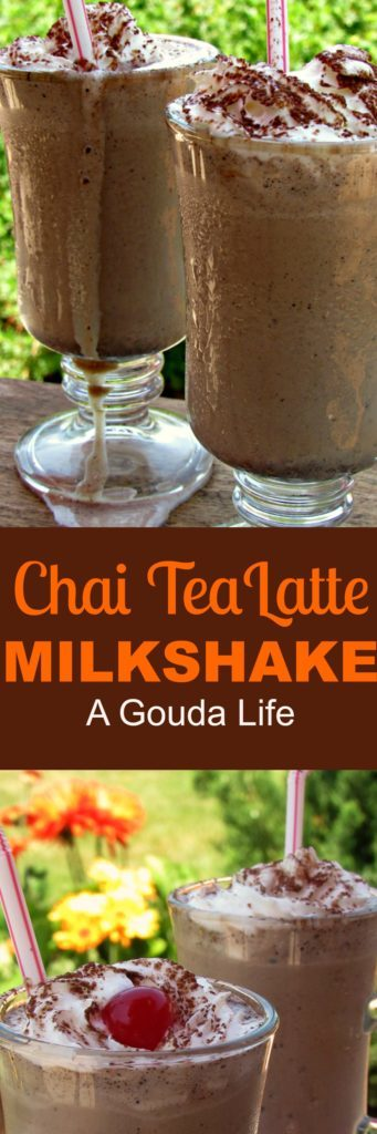 Chai Tea Latte Milkshake: 3 ingredients: Tazo® Chai Tea Latte Concentrate, ice cream & milk. Optional: top with whipped cream for a delicious summer treat.