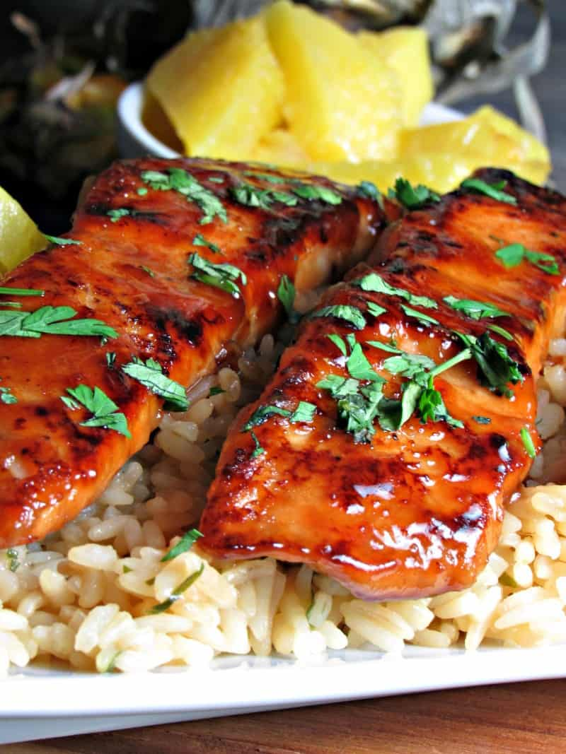 Honey Teriyaki Salmon is simple fake-out fancy made incredibly delicious with a 4-ingredient glaze that packs all the flavor.