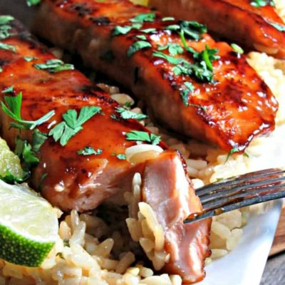 honey teriyaki glazed salmon filets