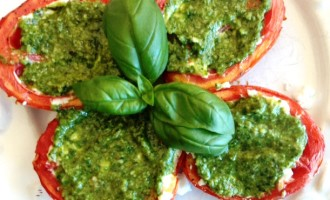 Tomato-Goat Cheese-Pesto Side Dish