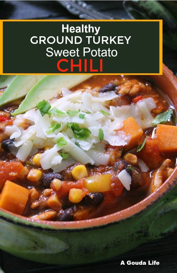 turkey sweet potato chili pinterest pin
