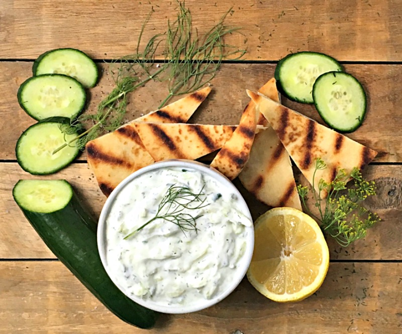 Easy, authentic Tzatziki. The ideal appetizer with pita chips or vegetables or with grilled chicken for dinner.