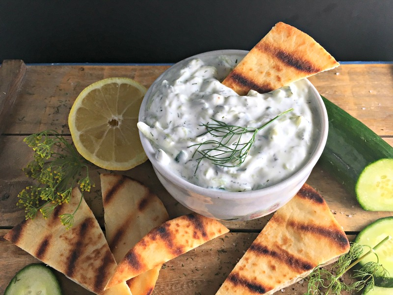 Easy, authentic Greek Tzatziki recipe from A Gouda Life kitchen. Perfect with pita chips, fresh vegetables or over grilled chicken.