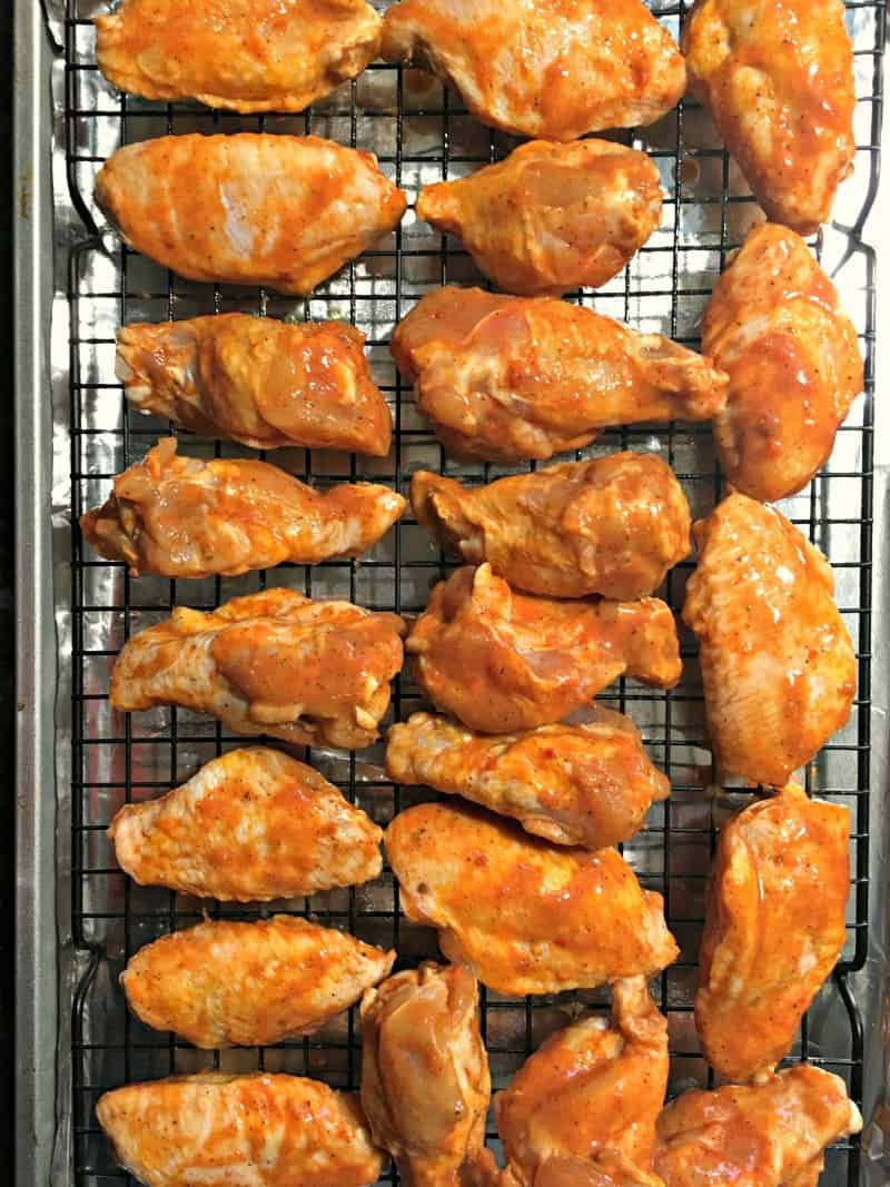 raw marinated chicken wings